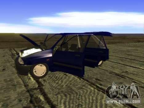 Kia Pride Hatchback for GTA San Andreas inner view