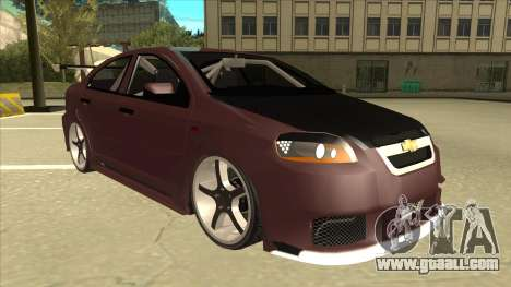 Chevrolet Aveo LT Tuning for GTA San Andreas left view