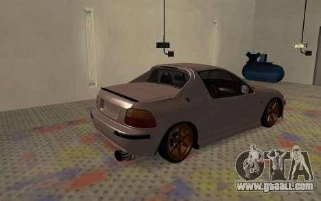 Honda CRX DelSol TMC for GTA San Andreas back left view
