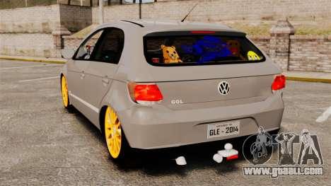 Volkswagen Gol G6 2013 Turbo Socado for GTA 4 back left view
