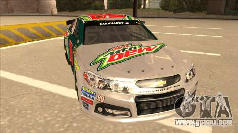 Chevrolet SS NASCAR No. 88 Diet Mountain Dew for GTA San Andreas left view