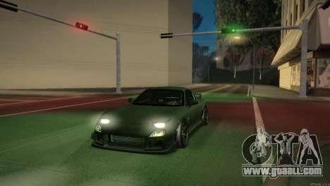 Mazda RX-7 STANCENATION for GTA San Andreas interior