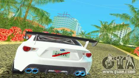 Subaru BRZ Type 4 for GTA Vice City back view