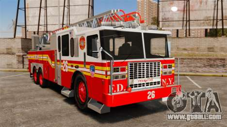 Ferrara 100 Aerial Ladder FDNY 2013 [ELS] for GTA 4