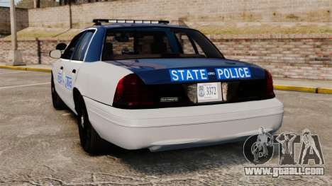 Ford Crown Victoria Virginia State Police [ELS] for GTA 4 back left view