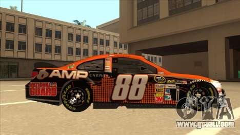 Chevrolet SS NASCAR No. 88 Amp Energy for GTA San Andreas back left view