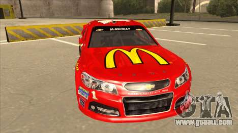 Chevrolet SS NASCAR No. 1 McDonalds for GTA San Andreas left view