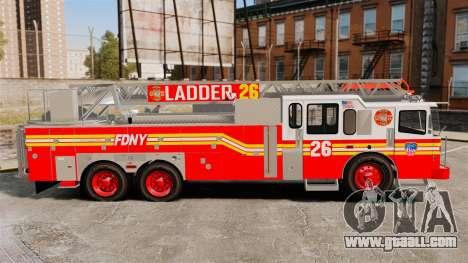 Ferrara 100 Aerial Ladder FDNY 2013 [ELS] for GTA 4 left view