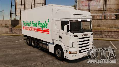 Scania R580 Tandem Woolworths for GTA 4