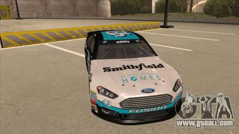 Ford Fusion NASCAR No. 43 Smithfield Foods for GTA San Andreas left view