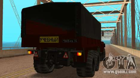Truck driving school v. 2.0 for GTA San Andreas back left view