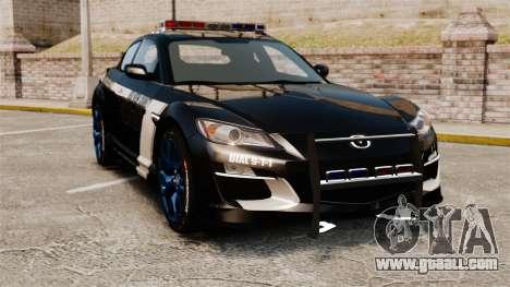 Mazda RX-8 R3 2011 Police for GTA 4