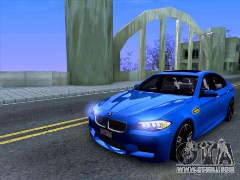 BMW M5 F10 2012 Autovista for GTA San Andreas left view