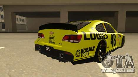 Chevrolet SS NASCAR No. 48 Lowes yellow for GTA San Andreas right view
