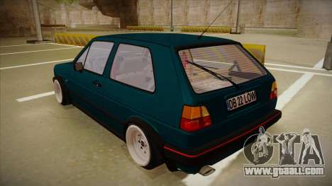 Volkswagen Golf MK2 Stance Nation by Razvan11 for GTA San Andreas right view