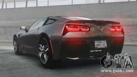 Chevrolet Corvette C7 Stingray 2014 for GTA 4 back left view