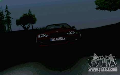 BMW M3 Cabrio for GTA San Andreas back view