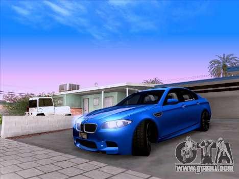 BMW M5 F10 2012 Autovista for GTA San Andreas back view