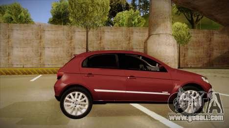 VW Gol Power 1.6 2009 for GTA San Andreas back left view