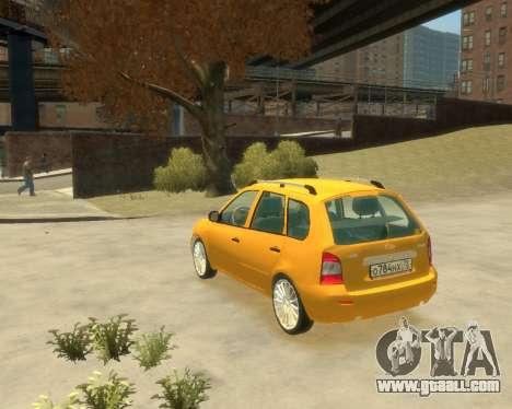 Lada Kalina Hatchback for GTA 4 left view