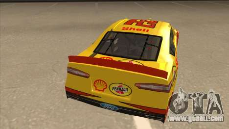 Ford Fusion NASCAR No. 22 Shell Pennzoil for GTA San Andreas right view