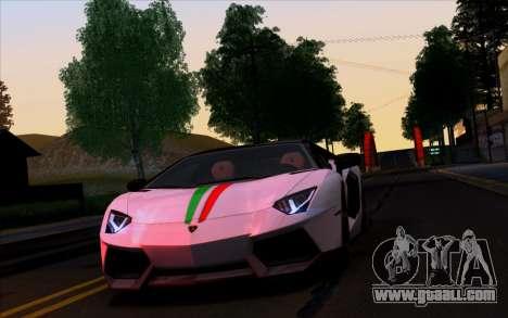 Lamborghini Aventador Vossen V2.0 Final for GTA San Andreas side view