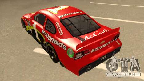 Chevrolet SS NASCAR No. 1 McDonalds for GTA San Andreas back view