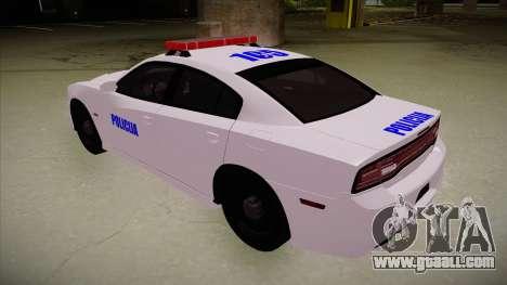 Dodge Charger SRT8 Policija for GTA San Andreas back view