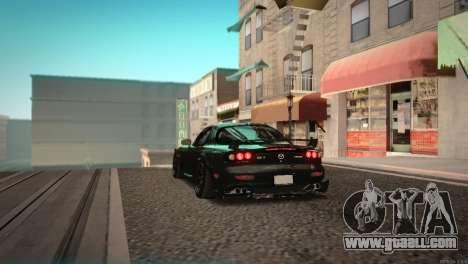 Mazda RX-7 STANCENATION for GTA San Andreas back view
