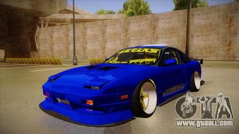 NISSAN 180SX NAKAGAWA for GTA San Andreas