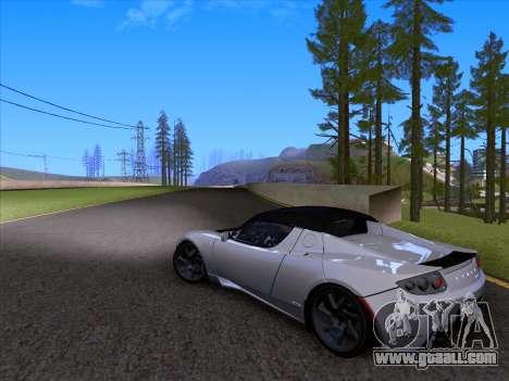 Tesla Roadster Sport 2011 for GTA San Andreas upper view