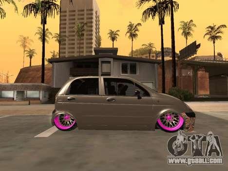 Daewoo Matiz Mexi Flush for GTA San Andreas left view