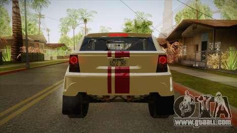Bowler EXR S 2012 IVF + AD for GTA San Andreas back view