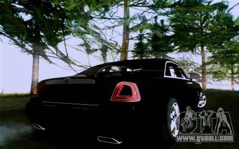 Rolls-Royce Ghost for GTA San Andreas inner view