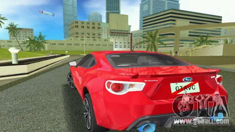 Subaru BRZ Type 1 for GTA Vice City back view