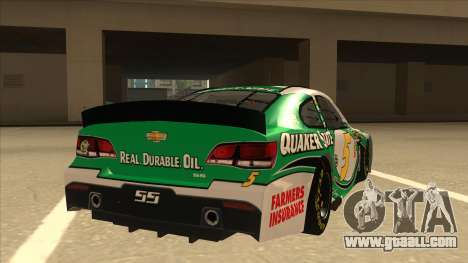 Chevrolet SS NASCAR No. 5 Quaker State for GTA San Andreas right view