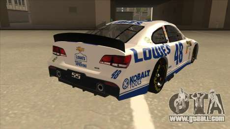 Chevrolet SS NASCAR No. 48 Lowes white for GTA San Andreas right view