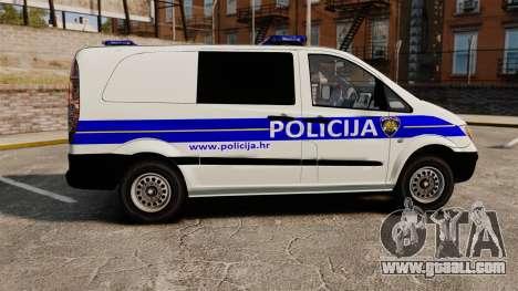 Mercedes-Benz Vito Croatian Police v2.0 [ELS] for GTA 4 left view