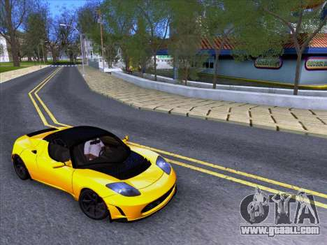 Tesla Roadster Sport 2011 for GTA San Andreas right view