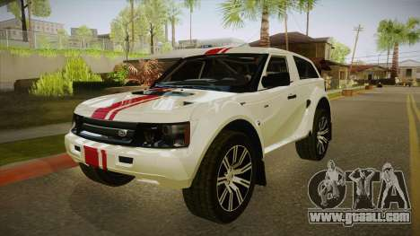 Bowler EXR S 2012 IVF + AD for GTA San Andreas left view