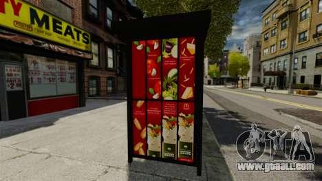 New advertising at bus stops for GTA 4 forth screenshot