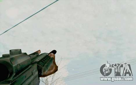 The M4a1 for GTA San Andreas fifth screenshot