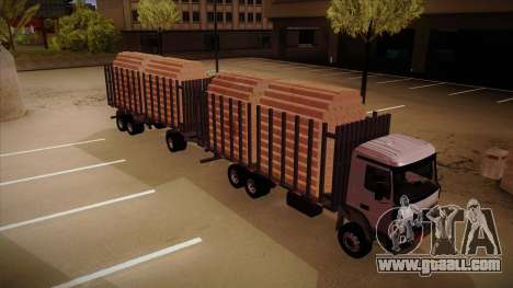 Semi-trailer timber truck for MB 2644 trem frent for GTA San Andreas right view