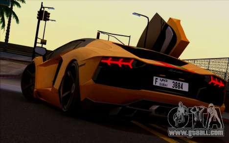 Lamborghini Aventador Vossen V2.0 Final for GTA San Andreas right view