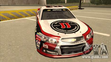 Chevrolet SS NASCAR No. 29 Jimmy Johns for GTA San Andreas left view