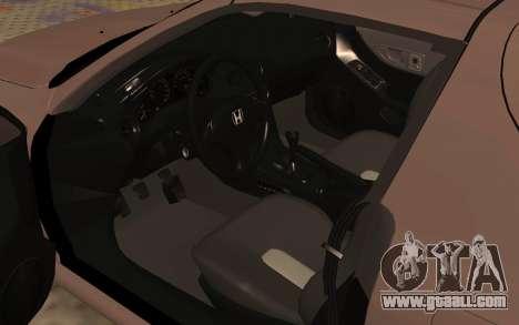 Honda CRX DelSol TMC for GTA San Andreas back view