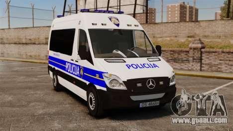 Mercedes-Benz Sprinter Croatian Police [ELS] for GTA 4