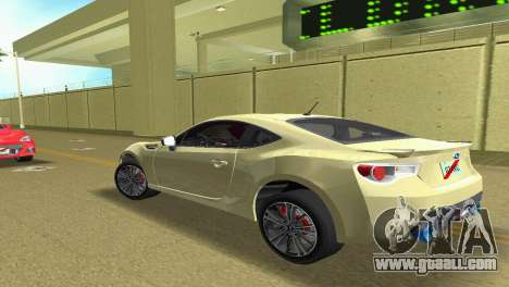 Subaru BRZ Type 1 for GTA Vice City right view
