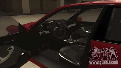 BMW M3 Tuned for GTA San Andreas inner view