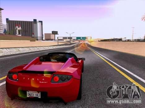 Tesla Roadster Sport 2011 for GTA San Andreas bottom view